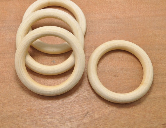 wholesale wood rings 100pcs 69mm unfinished wooden rings
