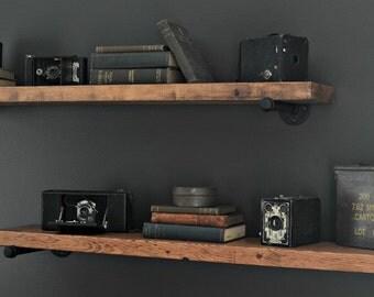 Rustic Pipe Shelf