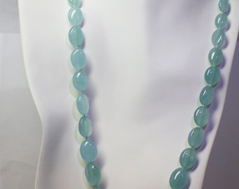 20 inch artisan aquamarine beads necklace.