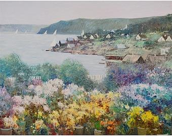 Coastal Landscape Painting Oil On Canvas