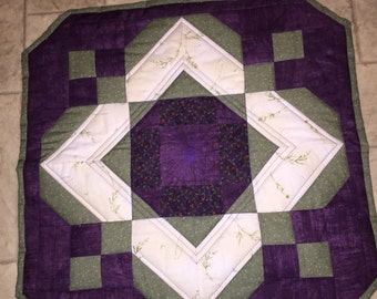 Optical Illusions Purple Table Topper