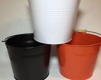 "Metal Buckets - Color Metal Bucket Pails - Large (8.5"")"