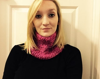 Speckled Pink Cowl