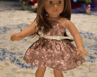 American girl doll dress with belt