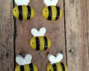Bumblebee resins- set of 5