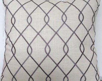 Grey Twist cushion cover - Free Shipping Australia wide