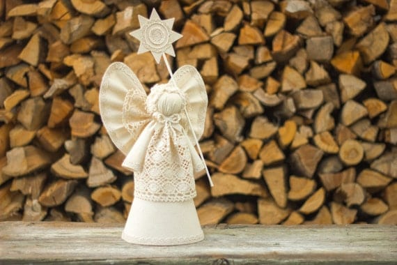 Christmas Angel Tree Topper White Christmas Ornament By