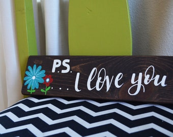PS I Love You Wall Art
