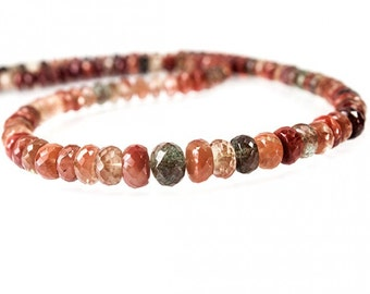 Andesine Faceted Rondelle Beads - Andesine Gemstone Beads - Andesine Rondelles