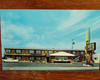 "Vintage Postcard UNUSED,""Bel Air Motel"", Spokane Washington"