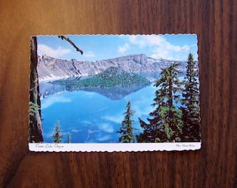 Vintage Postcard, UNUSED, Crater Lake, Oregon, Wizard Island
