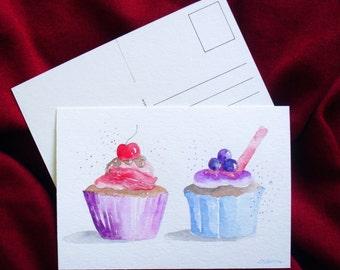 cupcake postcard