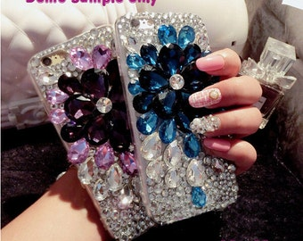 1 Set  Deco Kit Bling Huge Gems Flower Rhinestones Accessories Cabochon Deco Den on Craft Cell Phone Case DIY Deco kit DD3147