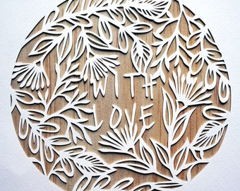 With Love - DIY papercut Template