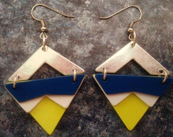 FREE SHIPPING - Color Block Earrings
