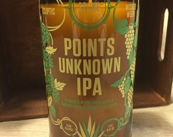 Stone Points Unknown IPA Beer Bottle Candle- Dragons Blood Scent