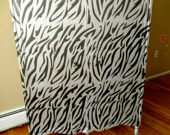 Zebra Armoire/ Wardrobe/ Closet/ Chifferobe/ Dresser