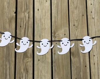 Ghosts Garland | Ghost Banner | Halloween Garland | Halloween Banner | Halloween Decoration | Halloween Decor | Halloween Party