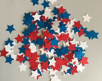 Patriotic Star Confetti Mix | Red, White, & Blue Star Confetti Mix | USA Star Confetti Mix | 4th of July Confetti Mix