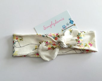 Baby Headband, knotted fabric headband, knot headband