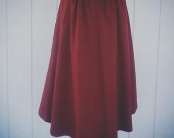 Vintage Clothing - Retro Skirt - Vintage Skirt - Winter Skirt - Brown Skirt