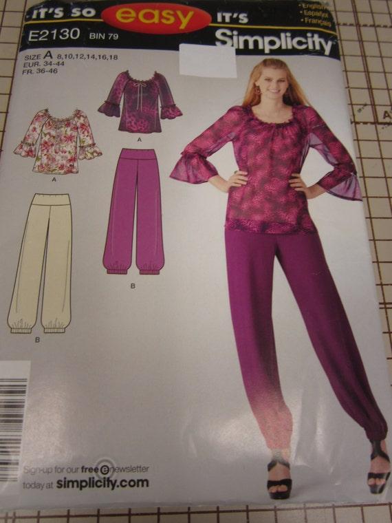 2130 Best Critical Role Fanart Images On Pinterest: Simplicity 2130 Pattern Ladies Top Pants Size 8 10 12