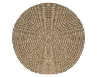 Brown Heather Braided Rug 9' Round