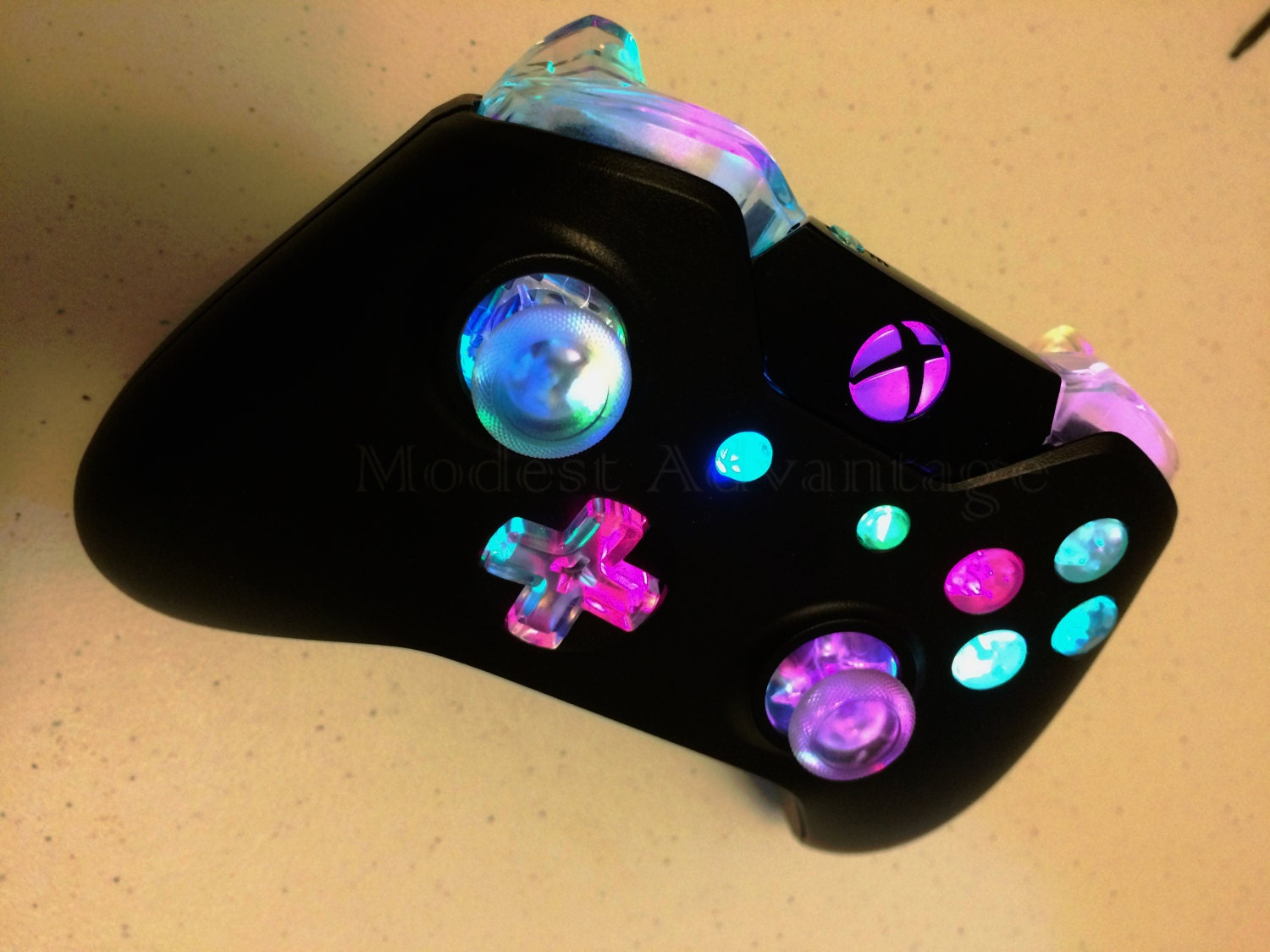 Xbox One controller full color changing LED mod by ...