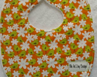 Baby girl bib, newborn girl bib, infant girl bib,ready to ship, triple layer, feeding bib, drool bib, snap bib