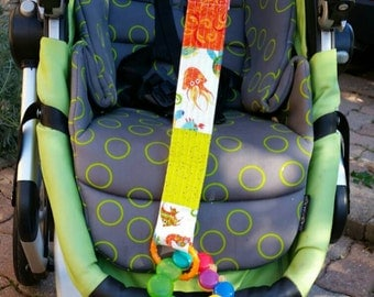 Sippy cup leash, toy leash, quilted strap baby gift ready to ship