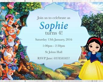 Snow White Invitation for Birthday Party - DIY PRINTABLE