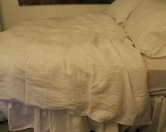 White Bed Linen - Duvet Cover - Queen Duvet Cover - Queen Bedding - Custom Bedding - Duvet Cover Queen