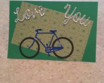 Bicycle Father's day card.
