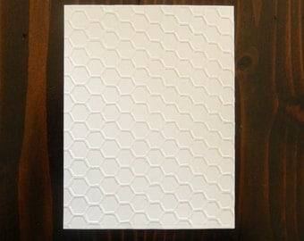 Honeycomb Embossed Cardstock, Embossed Sheets, Embossed Card Fronts