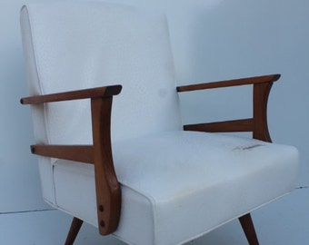 Paoli Platform Rocking Walnut Danish Modern Chair.