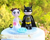 Batman Wedding Cake Topper with Stand and Free Shipping / Customizable