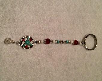 Keychain~Southwest Daisy Design