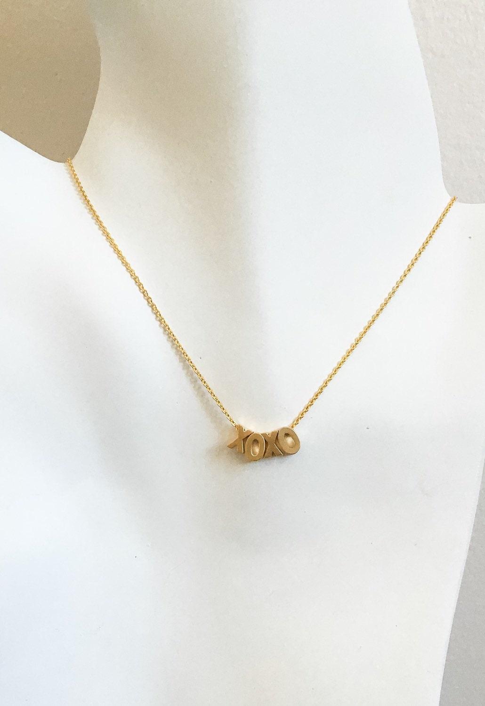 xoxo gold necklace xoxo gold charm necklace hugs and