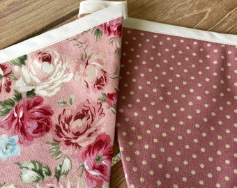 Classic vintage style floral bunting