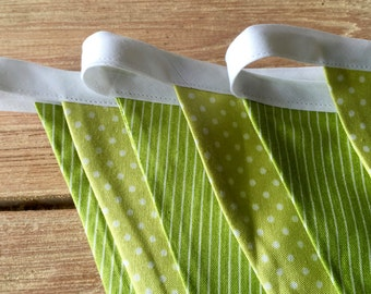 Lime Twist Quality Cotton Bunting