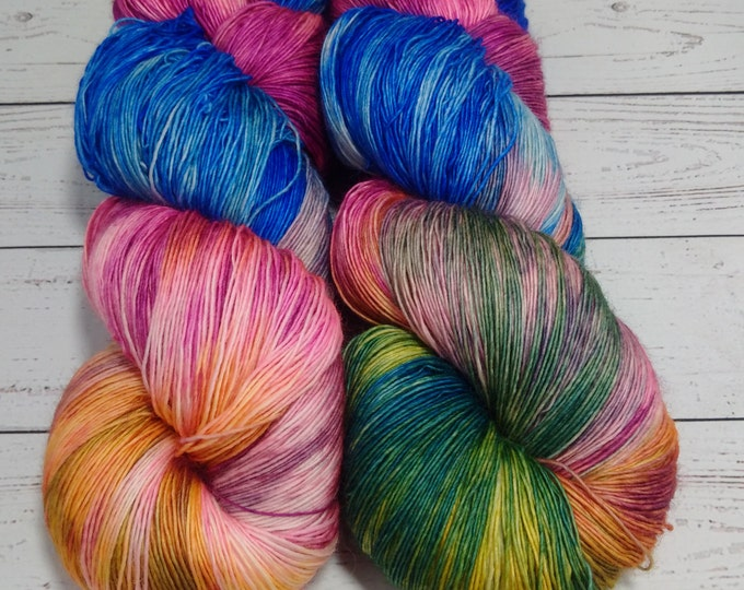 Featured listing image: Merino Lace Weight sw Yarn , Single, Hand Dyed, 825 yd each