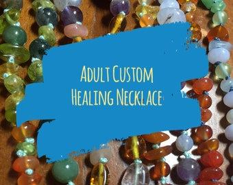 Custom made Adult Gemstone Healing Necklace
