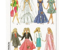 """Instant PDF Download Vintage Sewing Pattern to make a Super Wardrobe of Clothes for 11.5"""" Teenage Dolls Like Barbie"""