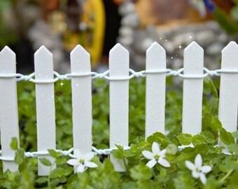 White Fairy Garden Fence, Fairy Garden, Miniature Garden, Fairy Garden Furniture, Fairy Garden Supplies, Garden Decor