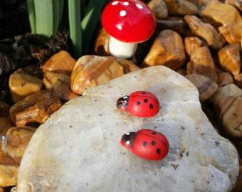 Fairy garden miniature ladybug, dollhouse ladybug , fairy ladybug, terrarium ladybug, fairy garden accessories