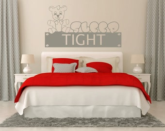 Sleep Tight Wall Quote - Girls Room Quotes - Girl Room Decor - Wall Quotes - Customized Decals - Personalized Quotes - GQ26