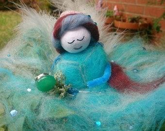 Christalle - wool felt fairy