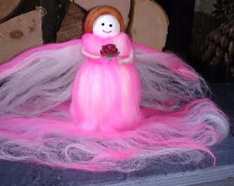 Wool Felt Fairy. Rhoslyn wool felt fairy