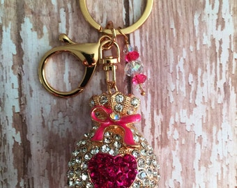 Rhinestone Money Bag Keychain