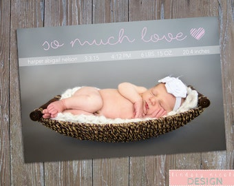 Birth Announcement, Printable, Customizable